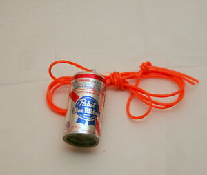 Toy Vending Prize Pabst Blue Ribbon Beer Can Necklace Pendant 1980s NOS New