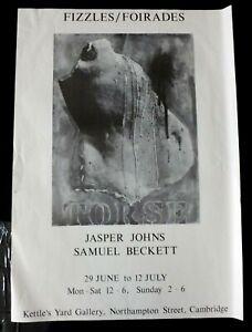 JASPER JOHNS Fizzles For Ades 1990 ART EXHIBITION POSTER Samuel Beckett
