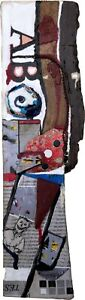 HEARTWOOD Found Object Wood Collage Totem Painting - Steven Tannenbaum TAO-e
