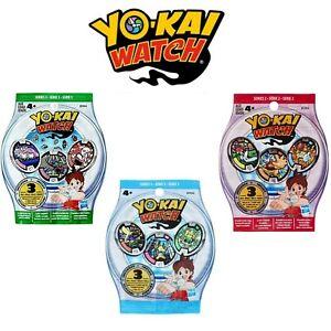 YO-KAI WATCH MEDALS ALL SERIES CHOOSE 1 BLIND BAG OF 3 YOKAI MEDALS