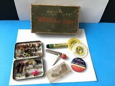 Old Vintage lure Bait Box Fly Fishing Weber Bass Buggy Stevens Point WI Wis