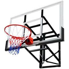 """54"""" Wall Mounted Adjustable-Height Basketball Hoop Stand w/Backboard &Nylon Net"""