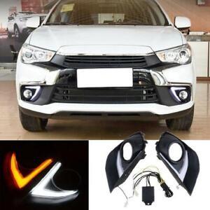 For Mitsubishi Outlander Sport 2016-2018 LED Daytime Running Light DRL Fog Lamp