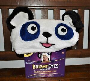 Snuggie Bright Eyes Blanket Precious Panda Glow In The Dark Eyes Soft & Cuddly