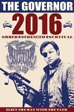 The Governor for President 2016 Walking Dead 11 x 17 high quality poster print