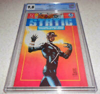 Static 1 CGC 9.8 White Pages Collectors Edition 1993 DC Milestone NM/M