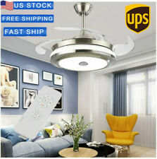 "New Listing42"" Invisible Ceiling Fan Light Dining Room Chandelier Lamp Remote Control Led"