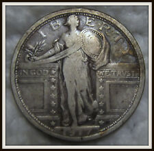 1917 25C Type 1 Standing Liberty Silver Quarter (Fine)
