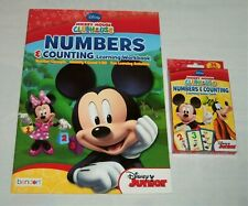 Lot 2 Disney Mickey Mouse Clubhouse Flash Cards Workbook Numbers & Counting