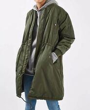 TOPSHOP Winston Bomber Parka drawstring Jacket sz us 6 uk 10 eur 38 new