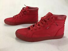 Mens Primo Distressed Levis High Top Shoes ALL Red Size 11