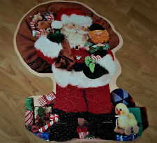 SPRINGBOK Outlines 500 pc. Santa-shaped Vintage Puzzle - Hallmark - Thick Pieces