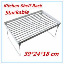 3 x Kitchen Pantry Plastic Shelf Rack Food storage Organiser Bathroom Office FD