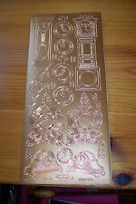 1 SHEET COPPER  STICKER CLOCKS     (23X10 CM)  NEW