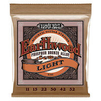 12 Pack! Ernie Ball 2148 Earthwood Acoustic 11 52 Guitar Strings Free US Ship
