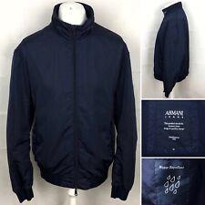 ARMANI JEANS Water Repellent Jacket Size UK 48 (58) In Blue Built In Hood Men's