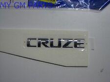 "CHROME ""CRUZE"" TRUNK EMBLEM NAMEPLATE 2011-2016 NEW OEM 95989983"