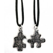 Colgante rompecabezas best friends doble metal con cable made in italy
