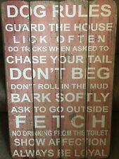 Rustic Shabby Chic Dogs House Rules Sign