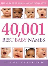 40,001 Best Baby Names New Paperback Book Diane Stafford