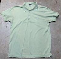 Lacoste Green Short Sleeve Polo Shirt Men's Size Medium 100% Cotton Logo Print