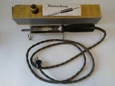 American Beauty No. 3138 Heavy-Duty Soldering Iron & Stand w/Box VINTAGE Working