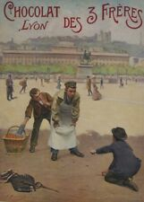 Chocolat Lyon, 1901, France, Vintage Grocery and Confectionery Poster