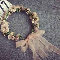 Flower Headband Head Garland Hair Band Crown Wreath Festival Boho Wedding Czxy