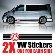 VW Transporter grafica strisce Camper Van Decalcomanie Adesivi T4 T5 Caddy rv23