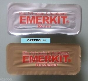 Emerkit 150g A&B Epoxy Putty Pool and Spa Underwater Repair Kit, Tiles FREE POST
