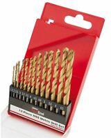 Draper 13 Piece HSS Metric Twist Drill Bit Set Titanium Nitride Coated Metal