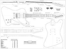 Gibson Firebird Studio style full size Guitar plans