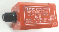 NATIONAL CONTROLS K1K-00180-661 E5 2P 10A 120VCOIL  SOLID STATE TIMER RELAY
