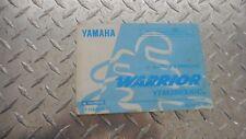 1998 Yamaha YFM350XK Warrior 350 Owners Manual LIT-11626-10-89