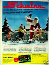Schwinn Speedster Bicycles Santa Christmas~1972~Bike Book Catalog Trade Print AD
