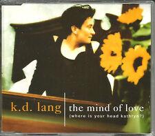KD LANG Mind Of Love w/ RARE LIVE TRK UK CD Single USA Seller SEALED K.D. 1992