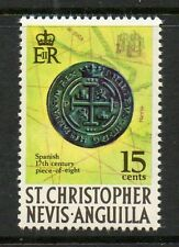 "St Kitts & nevis 1970 SG214 ""Piece of eight "" unmounted mint stamp"