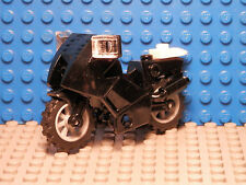 LEGO LEGOS  -  NEW Black Sport Motorcycle With Accessories