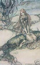 Arthur RACKHAM Undine Sirena Mar Océano Cuento de Hadas Hada impresión montado