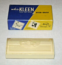 1950's Whis-Kleen Plastic Sweeper Brush for Tables, Clothes, Upholstery EUC