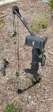 Compound Bow, Browning camo Bushmaster U7B with hunting attachments and arrows