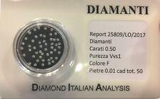 diamante diamanti  0.50 tutti da 0,01 lotto in blister