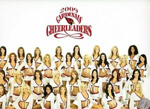 2009 ARIZONA CARDINALS CHEERLEADERS POSTER, ALL Cheerleaders; TWO Sided. MINT !