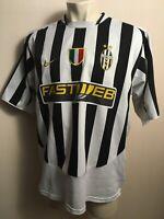 JUVENTUS ITALY 2003 2004 HOME FOOTBALL JERSEY SOCCER TRIKOT SHIRT XL FASTWEB