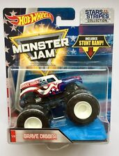 Hot Wheels Monster Jam Truck GRAVE DIGGER Stars & Stripes Collection Rare UK !!