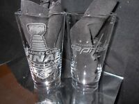 2018 STANLEY CUP WASHINGTON CAPITALS CONTENDER ETCHED 16 oz PINT GLASSES NEW
