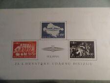 CROATIA - 1945 CREATION OF CROATIAN STORM DIVISION  - MINI SHEET - MNH