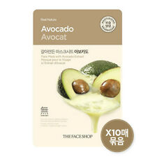 THE FACE SHOP Avocado Ground Real Nature Mask Pack 10 sheets Nourishing K-Beauty