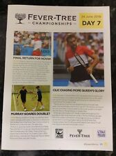 2018 Fever-Tree Championships Daily Programme: Day 7: ATP Tennis
