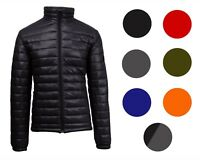 Mens Lightweight Ultrasoft Puffer Jacket Full Zip Water-repellent Heat retaining